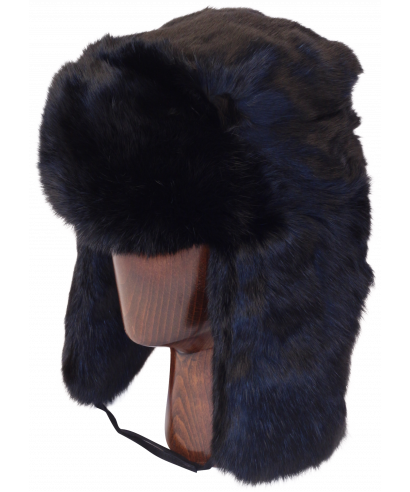 banner royalty free library Ushanka transparent authentic. Rabbit fur black full