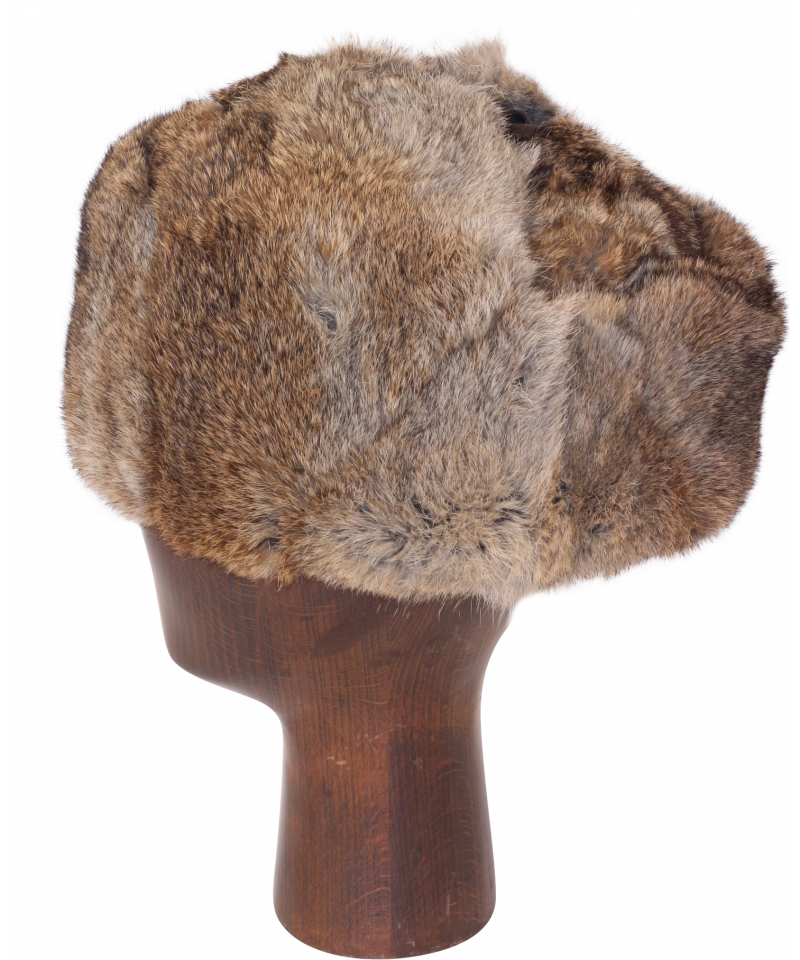 png free stock Rabbit fur brown full. Ushanka transparent authentic