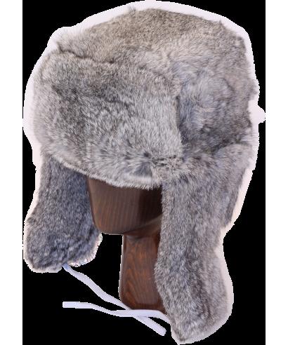 banner free library Rabbit fur full. Ushanka transparent gray