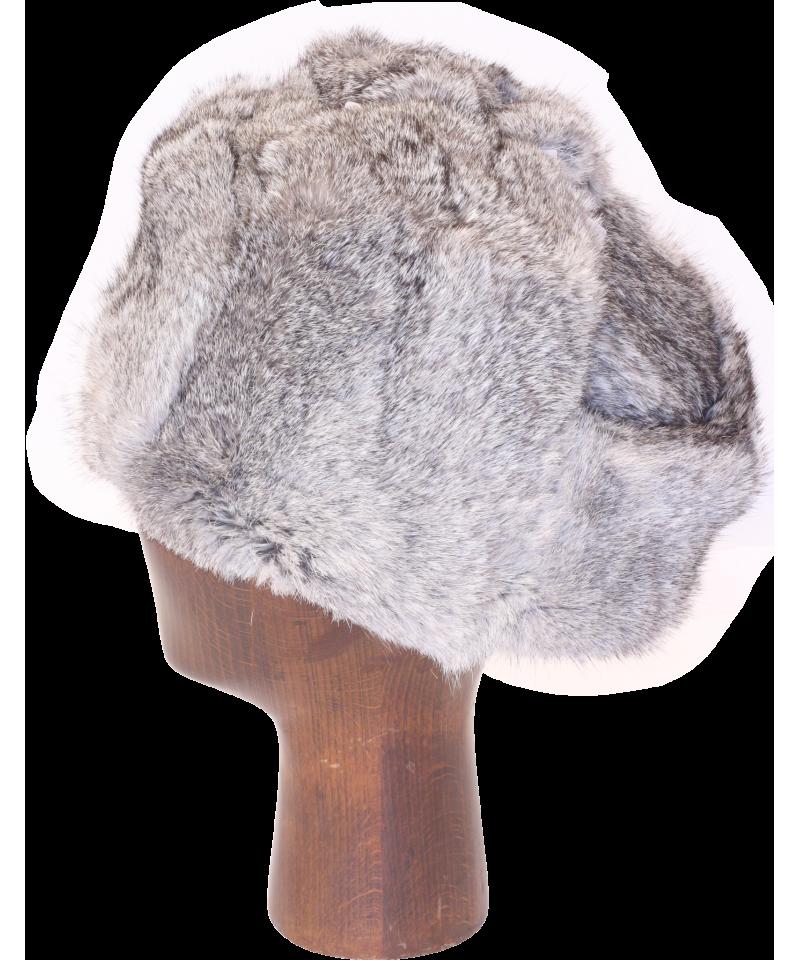 clipart transparent Rabbit fur full. Ushanka transparent gray