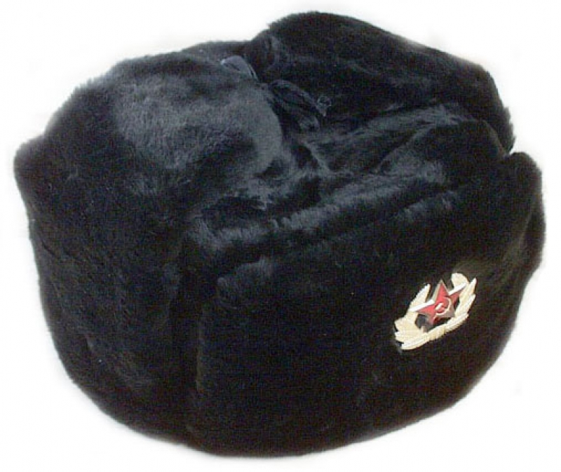 jpg transparent stock Ushanka transparent military surplus. Black winter hat with