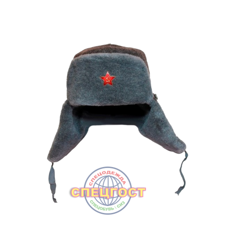 image royalty free Ushanka transparent red star. Cap soviet union russia