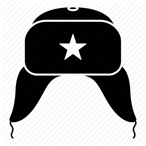 vector black and white stock Icons by artzgeo moscow. Ushanka transparent russian hat