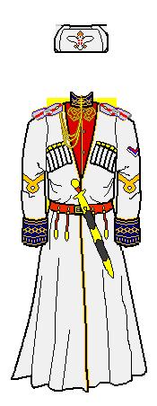 clip royalty free stock Serbian royal cossack officer. Ushanka transparent russian imperial