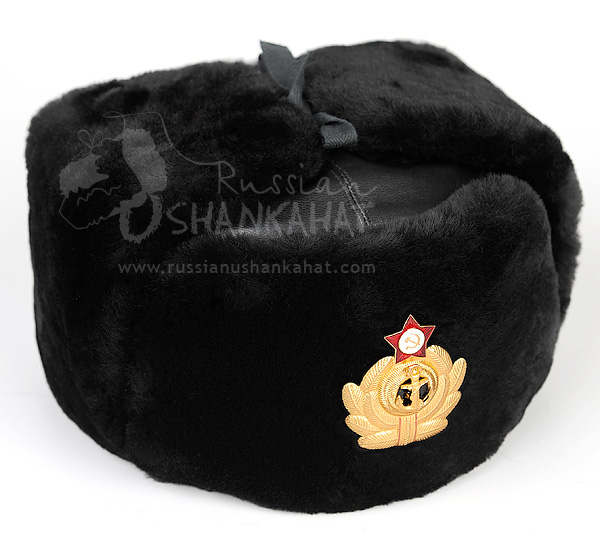 png transparent stock Ushanka transparent russian navy. Mouton sheepskin with leather