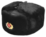 vector free download Russian hat mouton sheepskin. Ushanka transparent soviet