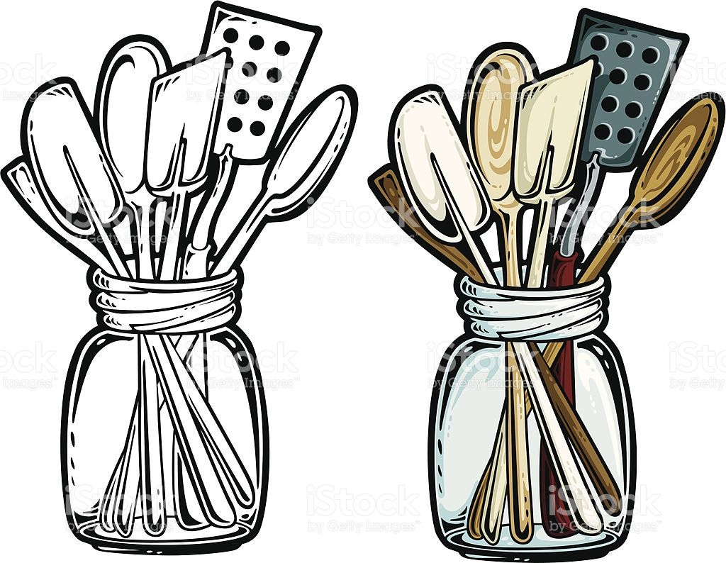picture free library Kitchen graphics cooking . Utensils clipart vintage
