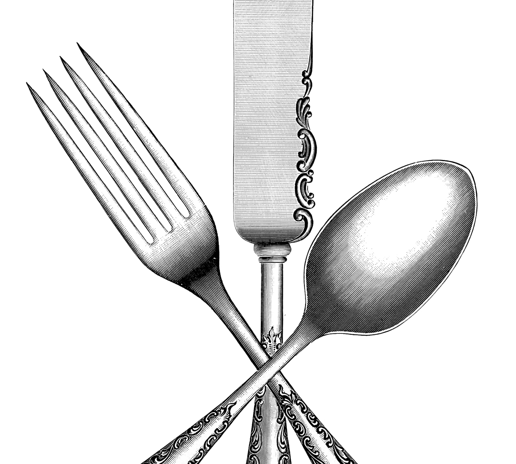 picture stock Silverware image the graphics. Utensils clipart vintage