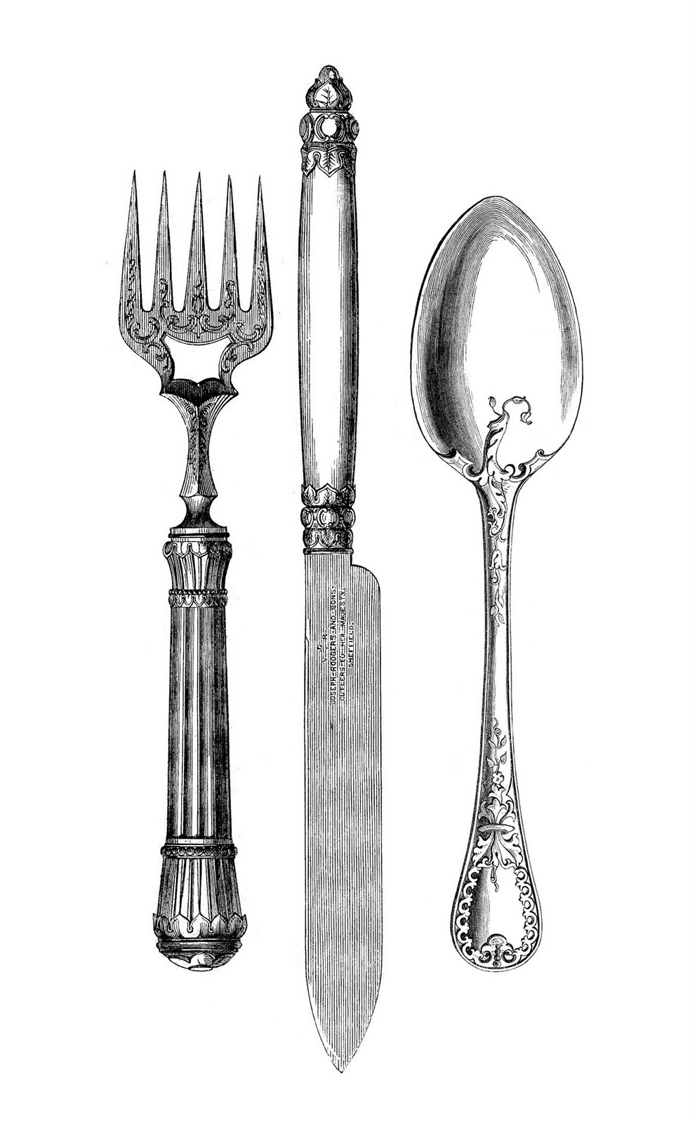 png free Utensils clipart vintage. Free kitchen cliparts download