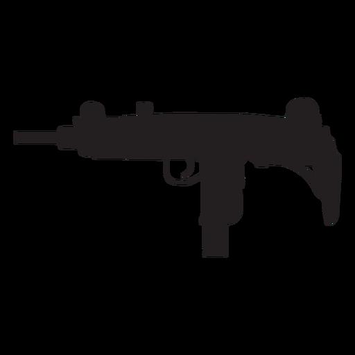 clip art black and white stock Uzi submachine gun grey silhouette