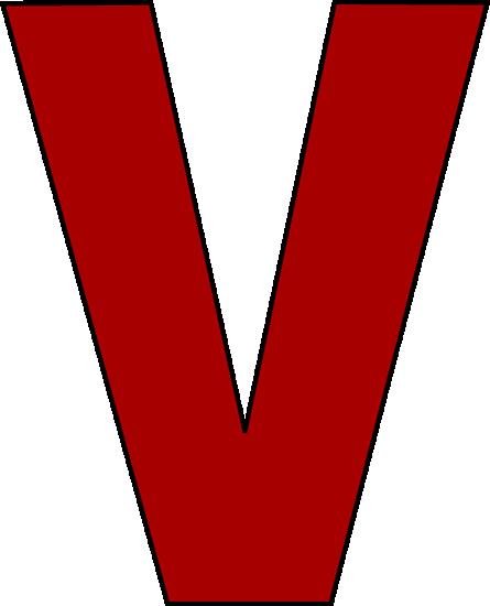 image library Red letter art image. V clip