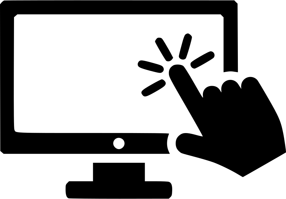 image royalty free stock Cursor press index finger. V clip double button