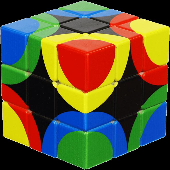 clip art stock Circles united cube . V clip flat