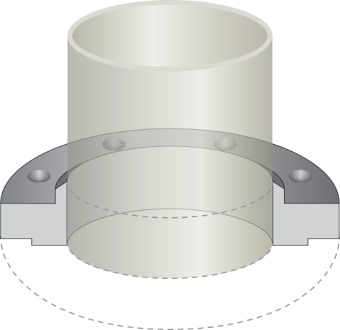 svg transparent library V clip metal pipe. Stainless steel slip on