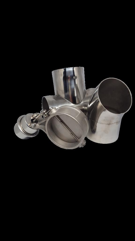 freeuse library T loudvalve turndown kit. V clip metal pipe
