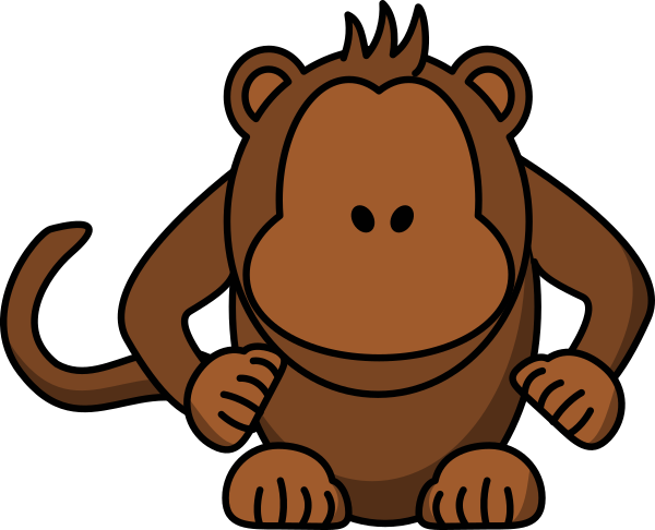 vector free library With no eyes art. V clip monkey