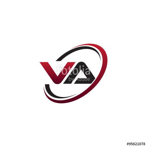 jpg library Va vector. Modern initial logo circle