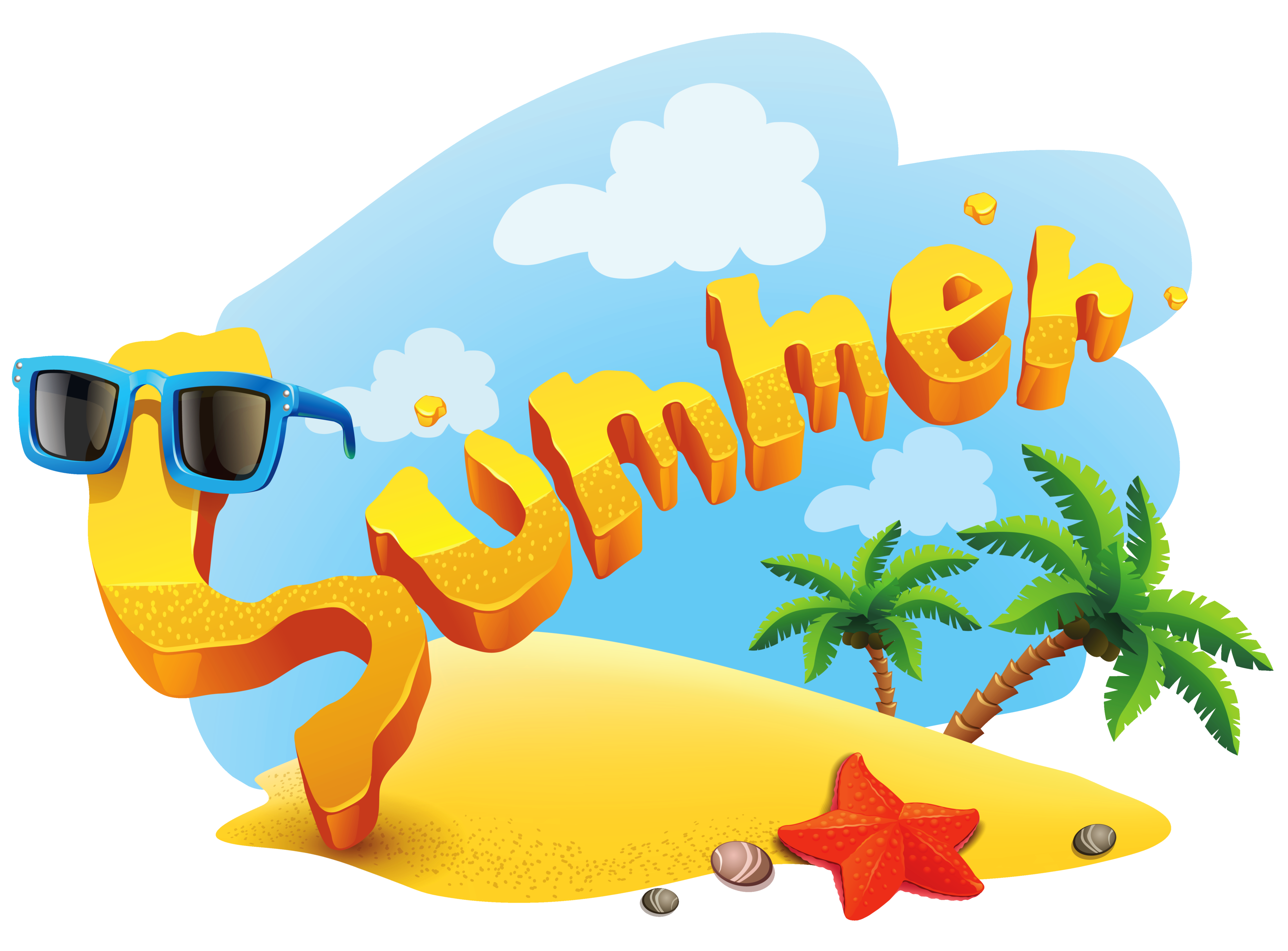 banner library download Summer deco picture png. Vacation clipart