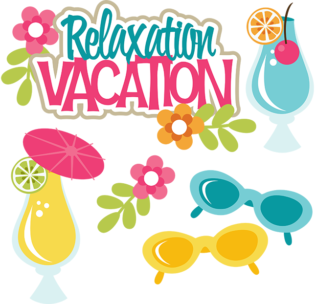 clip transparent Relaxation svg files for. Vacation clipart