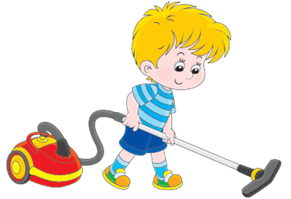 clip art royalty free stock Vacuuming clipart. Boy with a vacuum