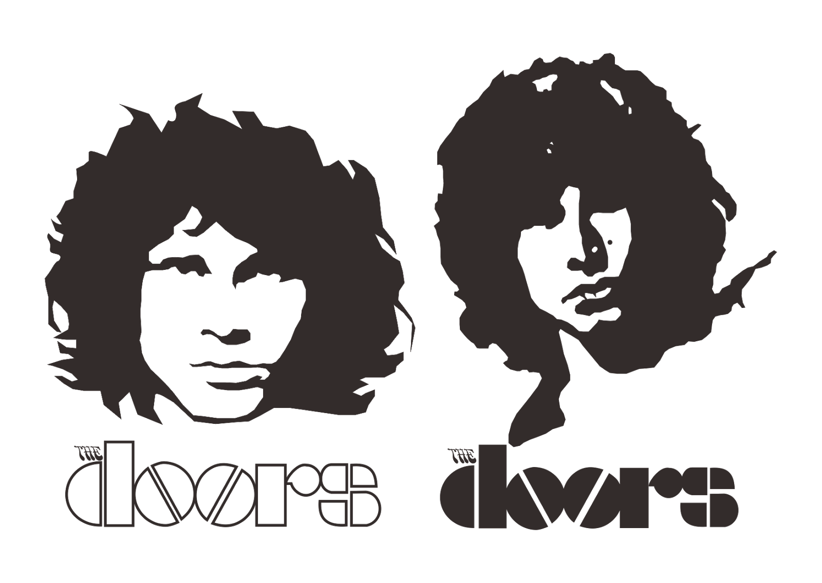 jpg transparent stock Jim morrison the doors. Vector band minimalist