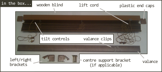 clip black and white How to fit wooden blinds
