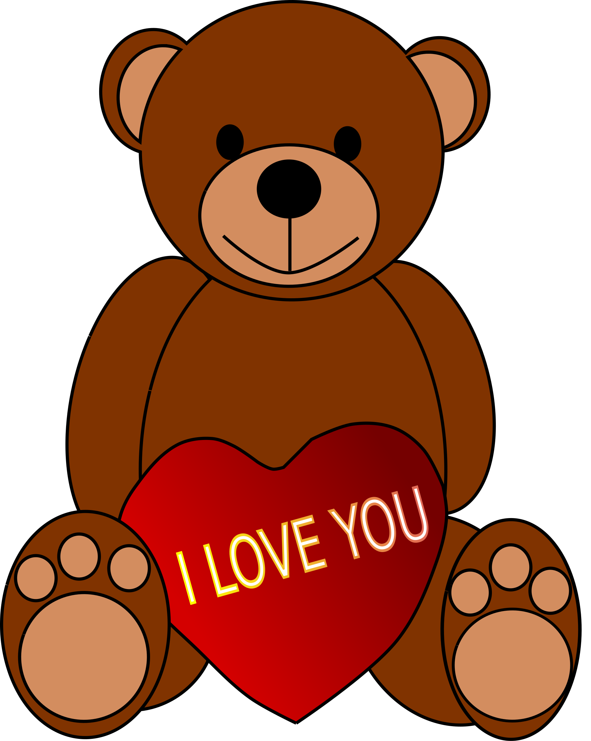 jpg library download S day teddy big. Valentine bear clipart