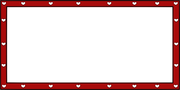 black and white library Hearts x clip art. Valentine border clipart