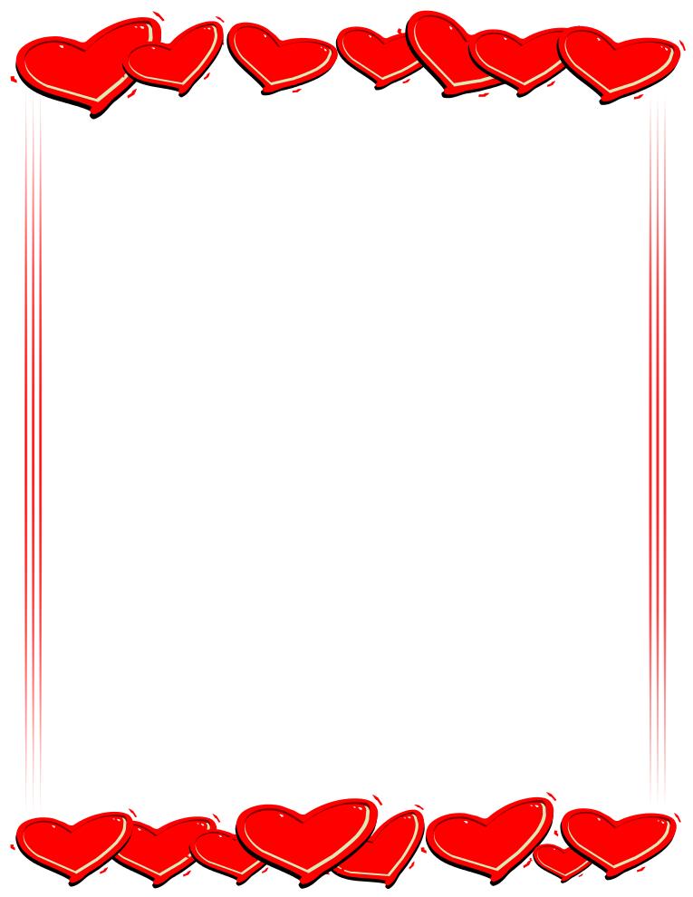 jpg free download Valentine border clipart. Best clipartion com