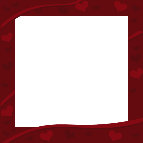 library Image of. Valentine border clipart