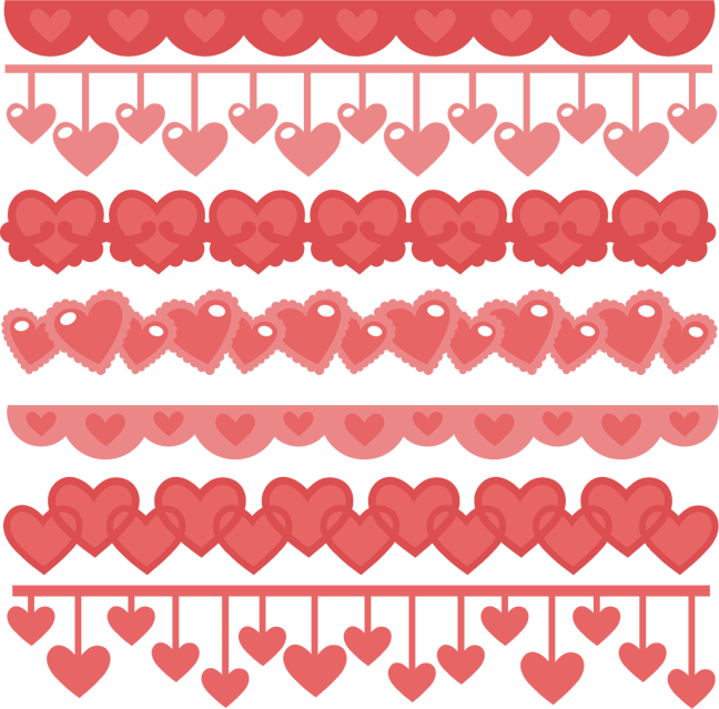 banner freeuse stock Valentine border clipart. Heart borders svg cutting