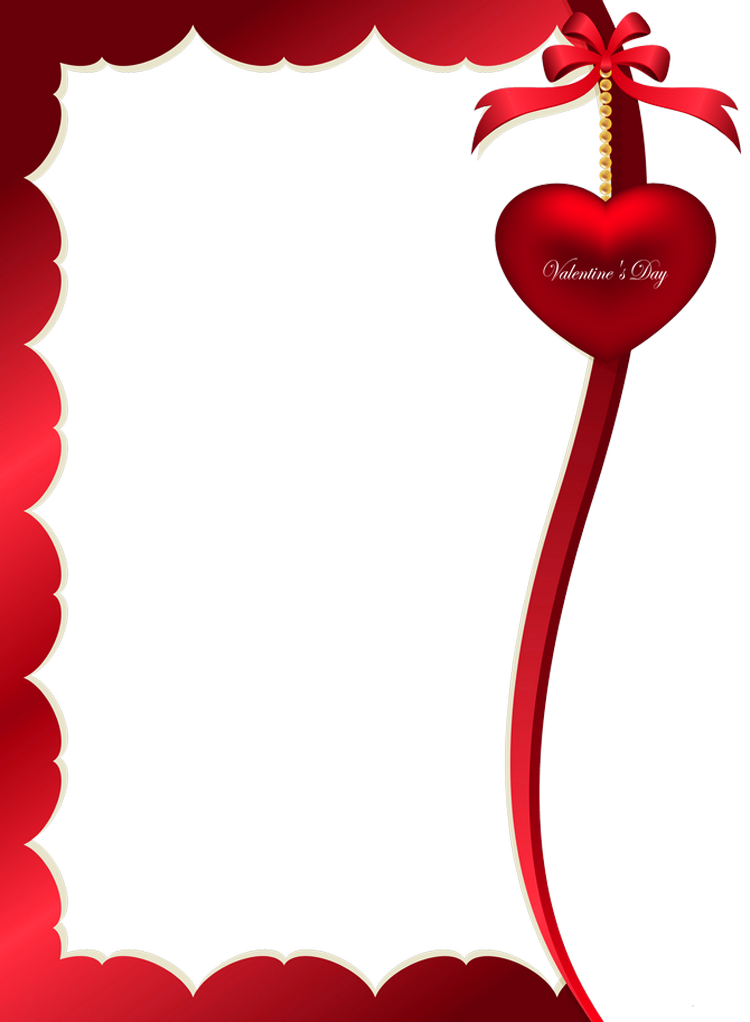 jpg black and white library Valentines day decorative ornament. Valentine borders clipart