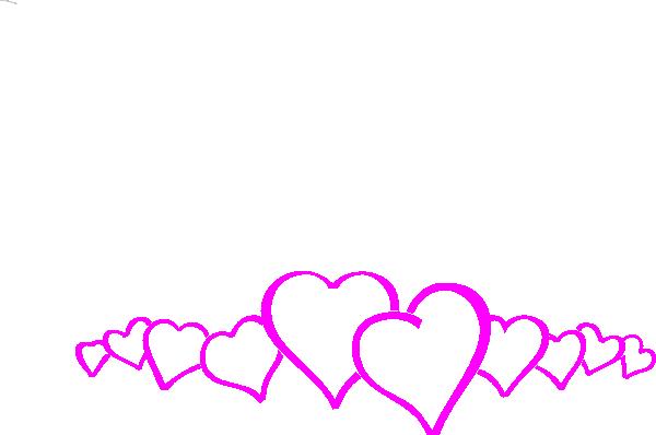 image download Magenta heart border clip. Valentine borders clipart