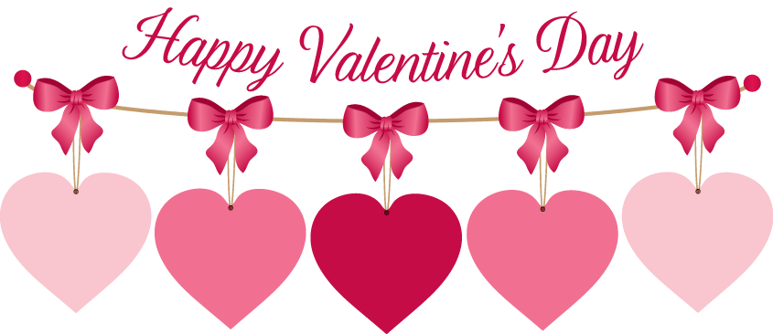 banner transparent stock Valentine week . Valentines day clipart for kids