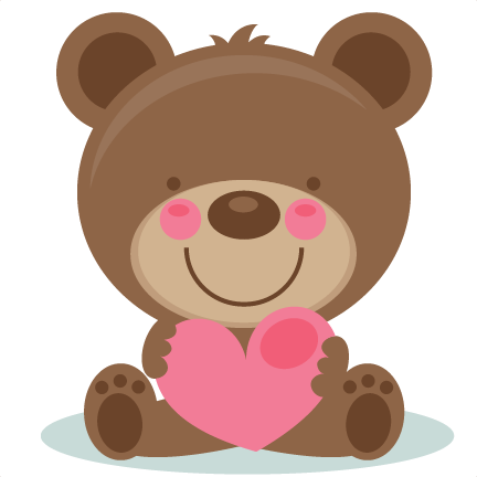 clip art stock Cute scrapbook cuts svg. Valentine bear clipart