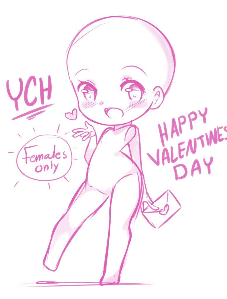 download Closed valentines day ych. Valentine drawing anime