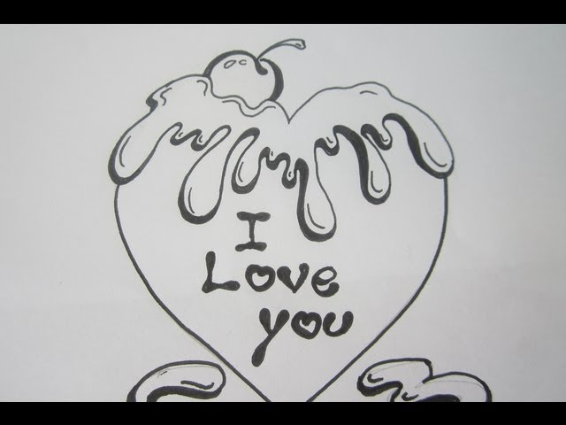 graphic freeuse Valentine drawing graffiti. How to draw a