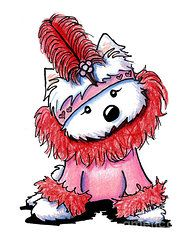 clipart freeuse library Valentine drawing kim. Westie flapper by niles