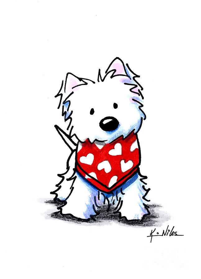 image royalty free Westie . Valentine drawing kim