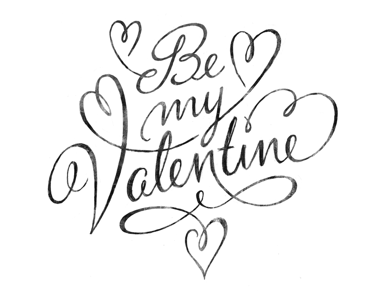 svg royalty free Be my sketch wip. Valentine drawing quote