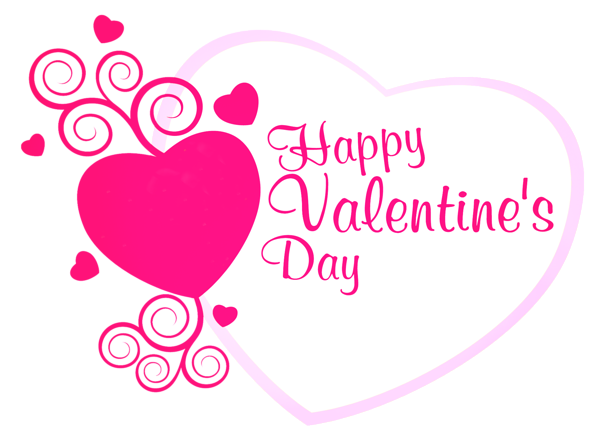 png free library Valentine vector. Happy valentines pink heart