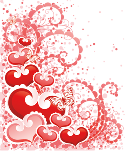 picture transparent library Valentine vector background. Clipart set png scrapbooking