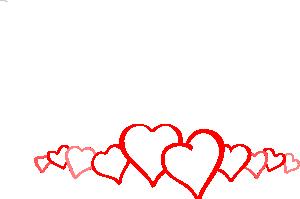 vector transparent Free hearts clip art. Valentine vector border