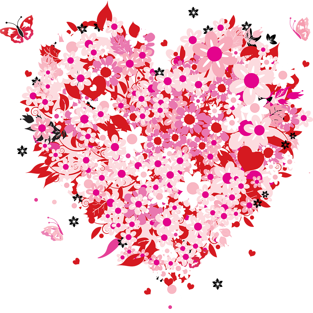 clipart freeuse stock Floral heart for valentines. Valentine vector design