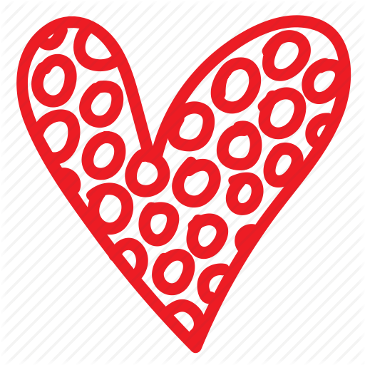 image black and white stock Valentine vector doodles. Doodle heart with patterns