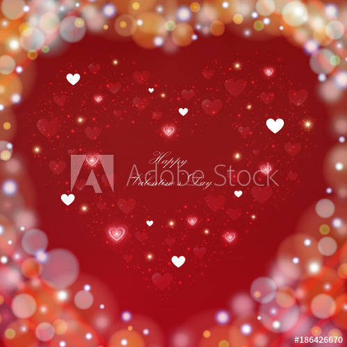 vector free library Valentine vector flying. Blur colorful day background