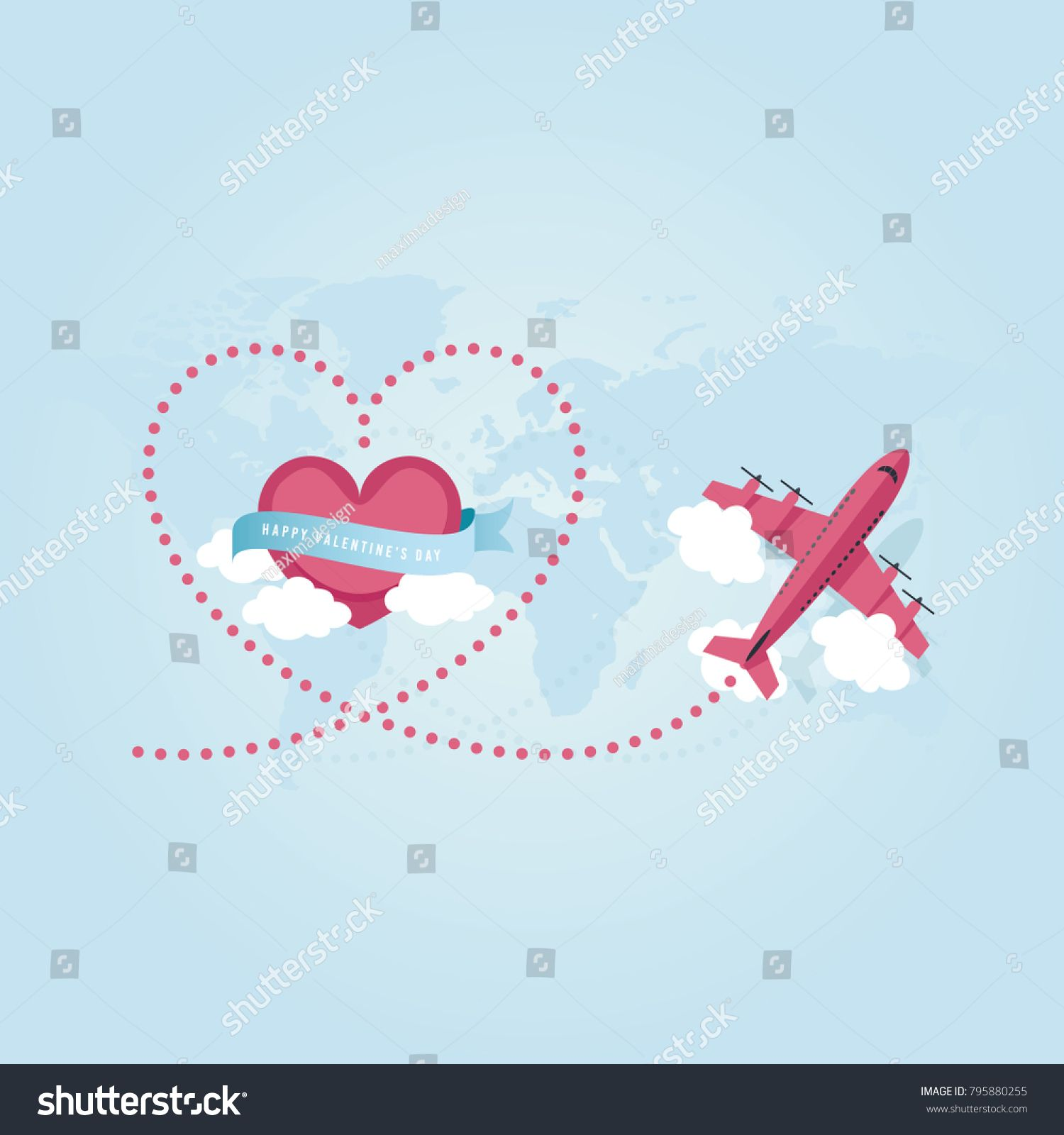 svg royalty free download Happy s day travel. Valentine vector flying