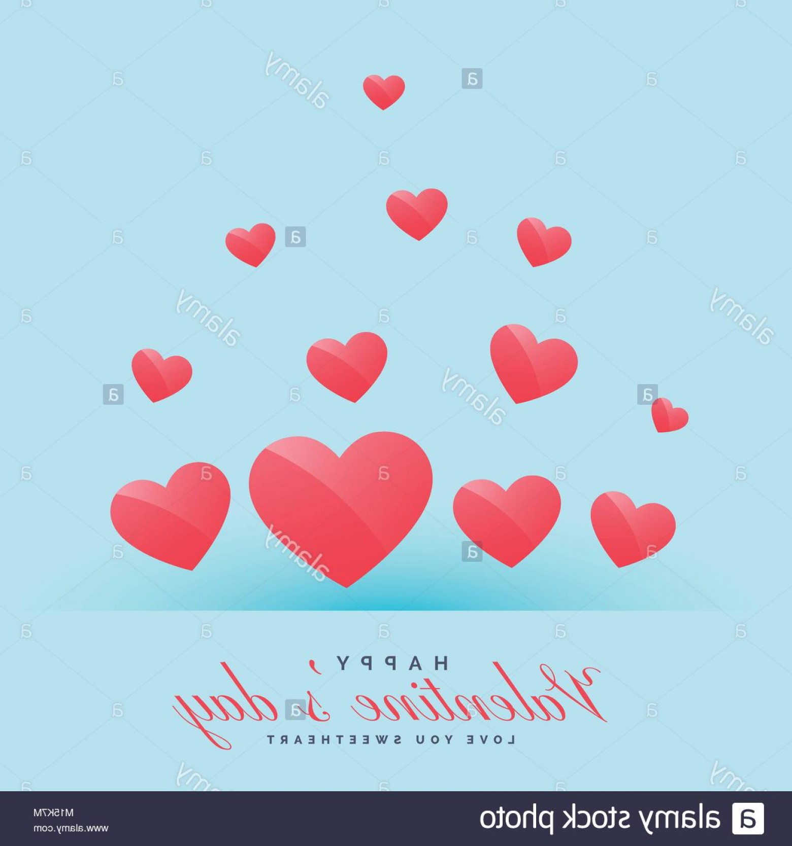 clipart royalty free download Stock photo hearts on. Valentine vector flying