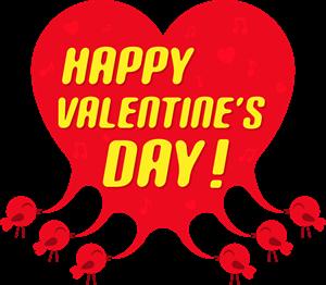 image free library Valentine vector happy. Tweet bird heart logo