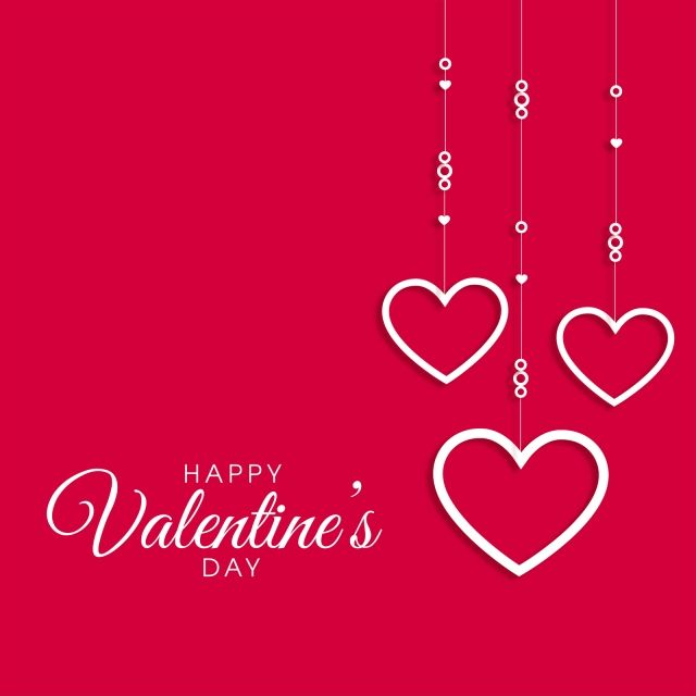 banner free download Day card on red. Valentine vector love